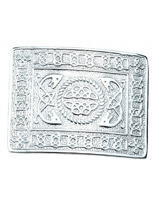 New Kilt Belt Buckle Chrome Masonic Celtic Event Wedding