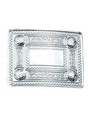 scottland Belt Buckle Chrome Masonic Celtic Masonic