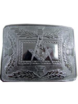 Kilt Belt Buckle Chrome Clan Crest
