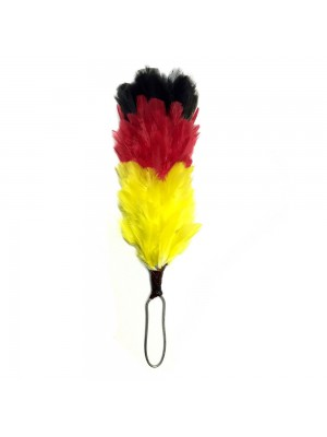 Black Red & Yellow Feather Hackle Scottish Glengarry Fusiliers Army