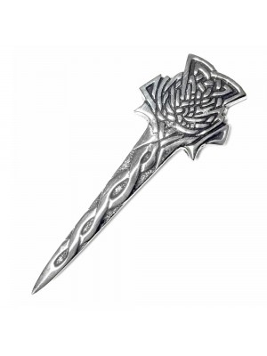 Twisted Design Scottish Kilt Pin Chrome Finish