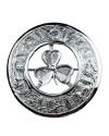 Kilt Plaid Brooch Irish Shamrock Crest Thistles