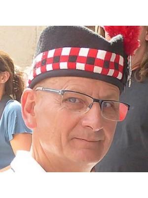Red Black White Diced Wool Scottish Kilt Hat