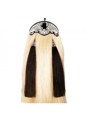 Handmade Black & White Horse Hair Kilt Sporran