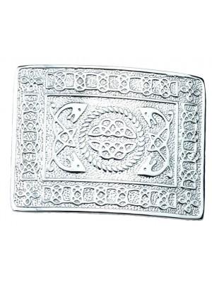 New Kilt Belt Buckle Chrome Masonic Celtic Event Wedding