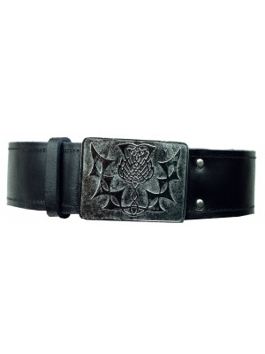 Kilt Belt Buckle Chrome Clan