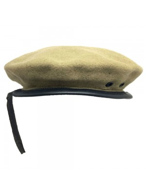 Beanie Glengarry Plain Khaki Hat