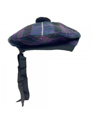 Scottish Beanie Glengarry Hat Pride of Scotland with Black Pompom