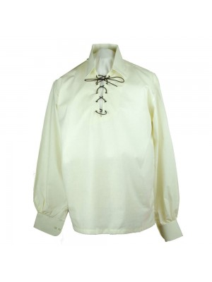 Kilt Shirt Mens Jacobite  Ghillie Shirt Jacobean Cotton