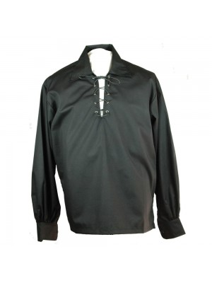 Buy Mens Black Deluxe Jacobite Ghillie Shirt