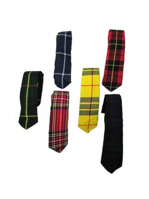 Tartan Fashion Slim Necktie Tie Wallace