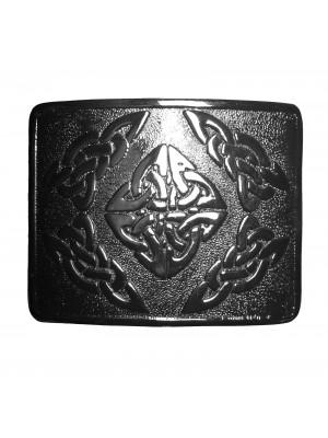 Belt Buckle Chrome Masonic Celtic Knots Design