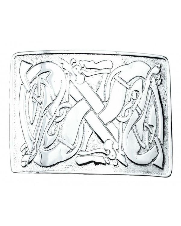 New Kilt Belt Buckle Chrome Masonic Celtic Design