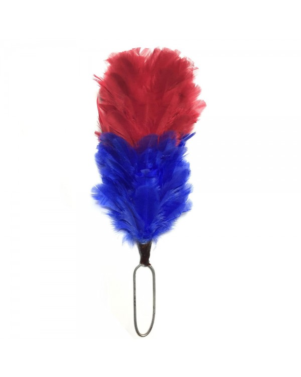 Red & Blue Feather Hackle Fusiliers Army Military Plume