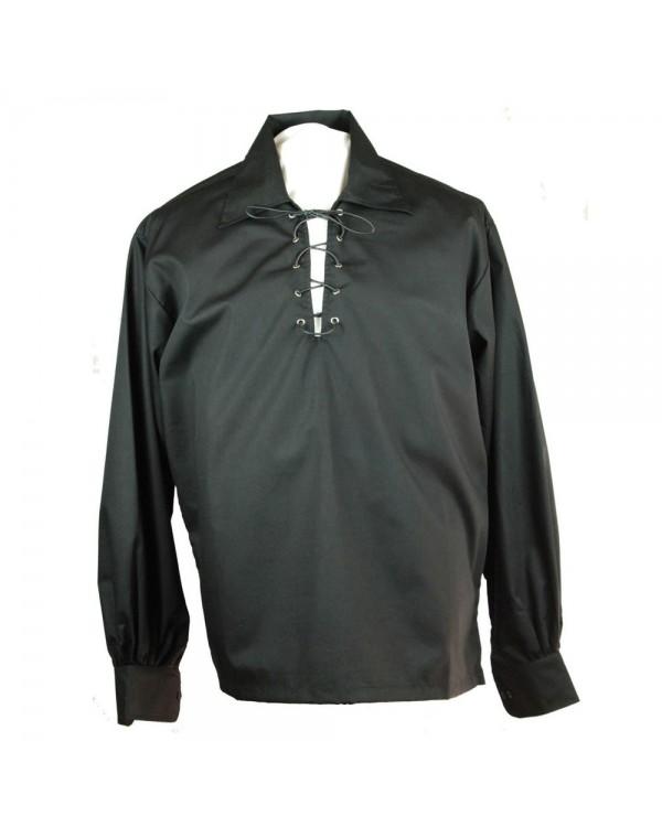 Buy Mens Black Deluxe Jacobite Ghillie Shirt