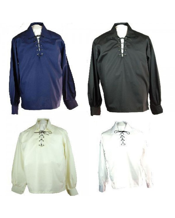 Jacobite Ghillies Shirts Various Colours Jacobean